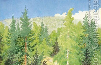 Forest - Skog by Theodor Kittelsen - Reproduction Oil Painting