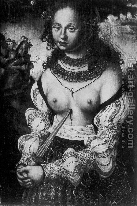 Dagger Madonna by Hans Baldung  Grien - Reproduction Oil Painting