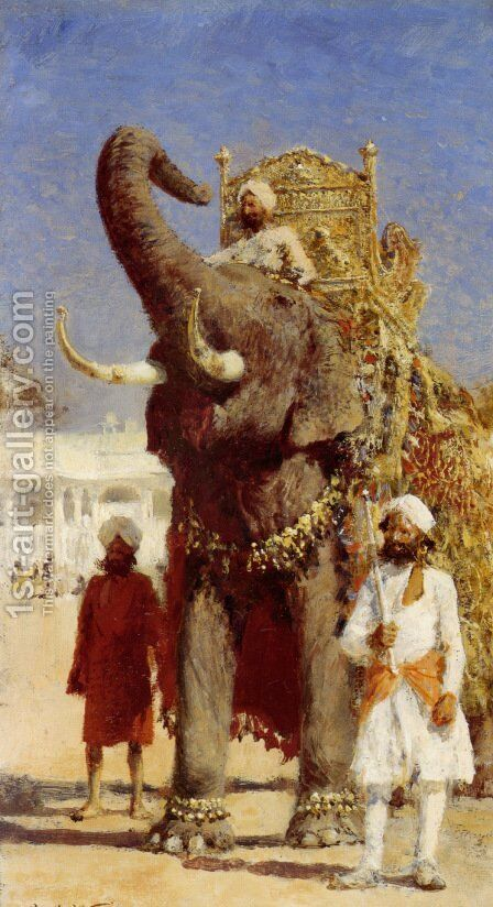 The Rajahs Elephant by Edwin Lord Weeks - Reproduction Oil Painting
