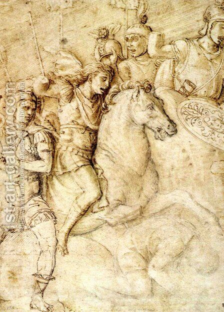 Study of an Ancient Bas Relief of the Arch of Constantine by Andrea Mantegna - Reproduction Oil Painting