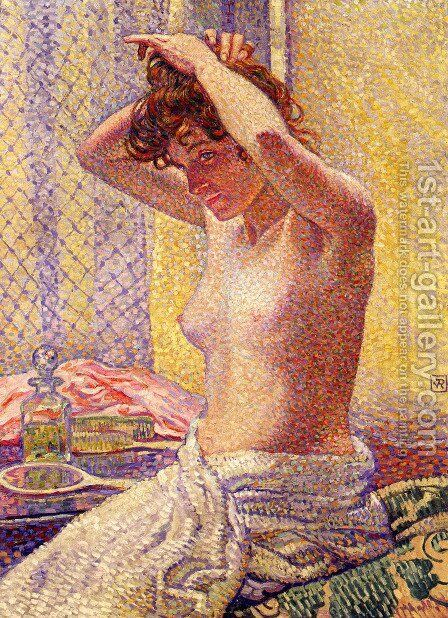 Woman at Her Toilette by Theo van Rysselberghe - Reproduction Oil Painting