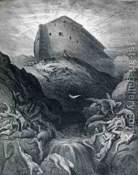 The Dove Sent Forth From The Ark by Gustave Dore - Reproduction Oil Painting
