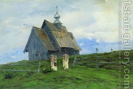 Church in Plyos by Isaak Ilyich Levitan - Reproduction Oil Painting