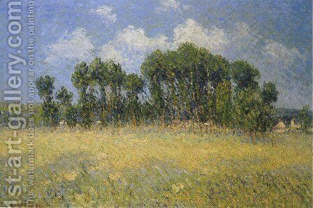 Landscape with Poplars by Gustave Loiseau - Reproduction Oil Painting