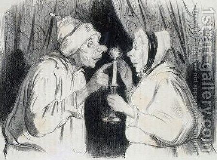 There is nothing like that for the common cold, it is worth gold by Honoré Daumier - Reproduction Oil Painting