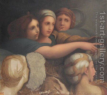 Women's Group by Jean Auguste Dominique Ingres - Reproduction Oil Painting