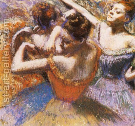 Dancers 8 by Edgar Degas - Reproduction Oil Painting