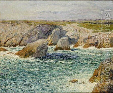 The creek shore of Quibero by Maxime Maufra - Reproduction Oil Painting