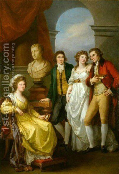 Family portrait of Catherine Petrovna Baryatinskiy by Angelica Kauffmann - Reproduction Oil Painting