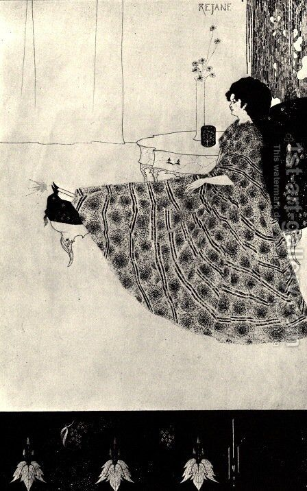 Rejane 2 by Aubrey Vincent Beardsley - Reproduction Oil Painting