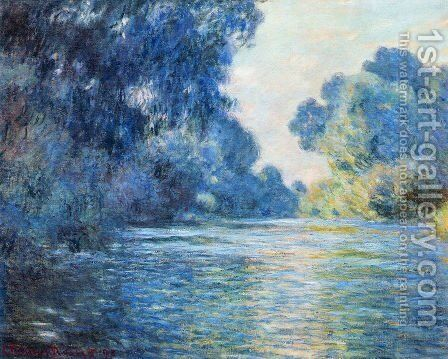 Morning on the Seine at Giverny 02 by Claude Oscar Monet - Reproduction Oil Painting
