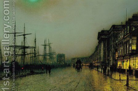 Canny Glasgow 2 by John Atkinson Grimshaw - Reproduction Oil Painting
