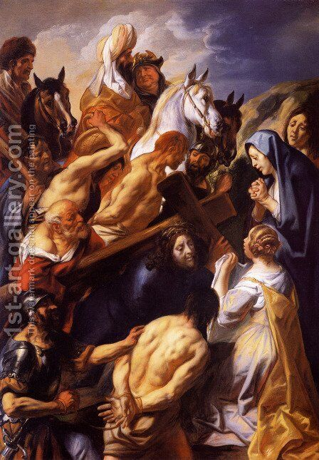 Christ Carrying the Cross by Jacob Jordaens - Reproduction Oil Painting