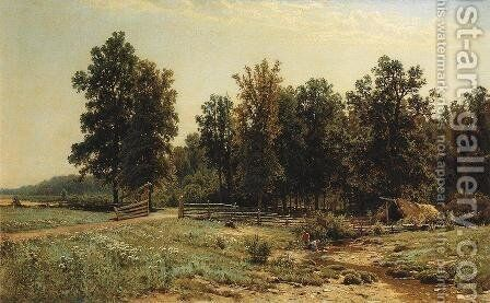 At the edge of an oak forest by Ivan Shishkin - Reproduction Oil Painting