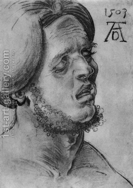 Head of a suffering man by Albrecht Durer - Reproduction Oil Painting