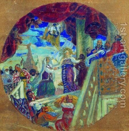 Joining Kazan to Russia. Allegory by Boris Kustodiev - Reproduction Oil Painting