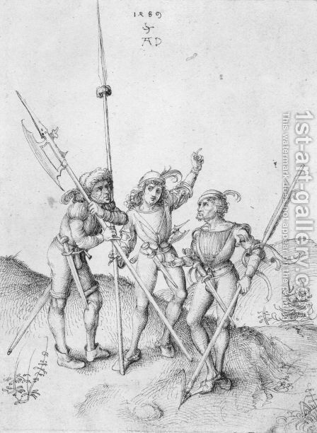 Soldiers by Albrecht Durer - Reproduction Oil Painting