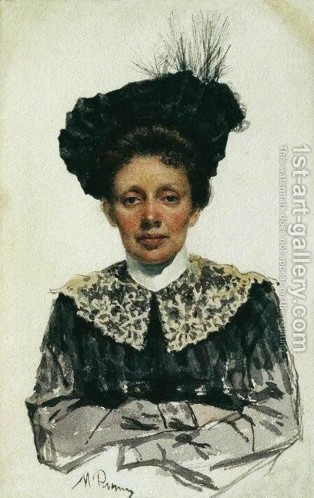 Portrait of an Unknown Woman by Ilya Efimovich Efimovich Repin - Reproduction Oil Painting