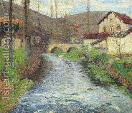 The Stream in Labastide du Vert by Henri Martin - Reproduction Oil Painting