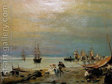 Seascape by Constantinos Volanakis - Reproduction Oil Painting