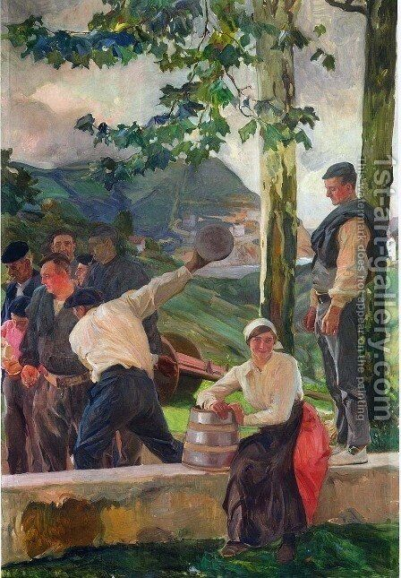 Game of Skittles by Joaquin Sorolla y Bastida - Reproduction Oil Painting