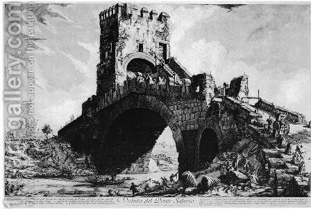 Vedute di Roma 43 by Giovanni Battista Piranesi - Reproduction Oil Painting