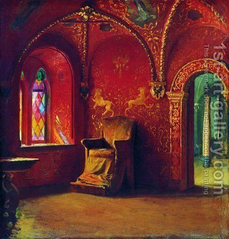 Red House by Andrei Petrovich Ryabushkin - Reproduction Oil Painting