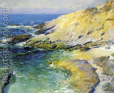 View of Wood's Cove by Guy Rose - Reproduction Oil Painting