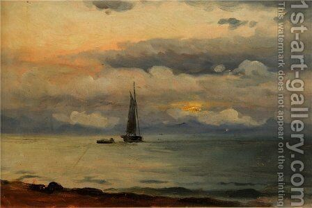 Seascape 3 by Ioannis (Jean H.) Altamura - Reproduction Oil Painting