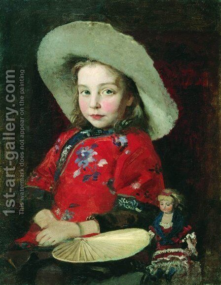 Unknown 2 by Andrei Petrovich Ryabushkin - Reproduction Oil Painting