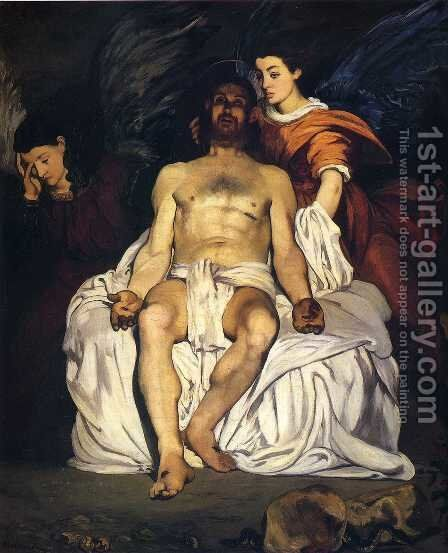 The Dead Christ with Angels by Edouard Manet - Reproduction Oil Painting