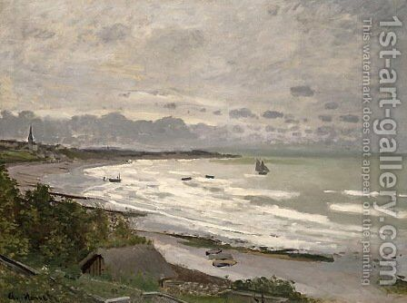 The Beach at Saint-Adresse by Claude Oscar Monet - Reproduction Oil Painting