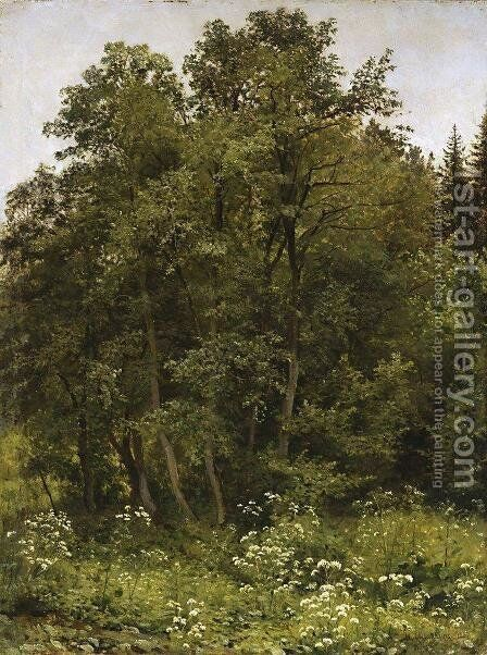 At the edge of the forest by Ivan Shishkin - Reproduction Oil Painting