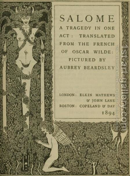 Book illustration by Aubrey Vincent Beardsley - Reproduction Oil Painting