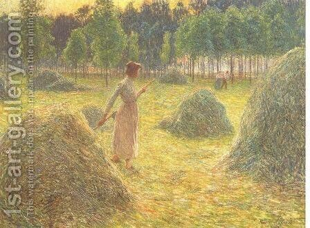 Hay stacks by Emile Claus - Reproduction Oil Painting