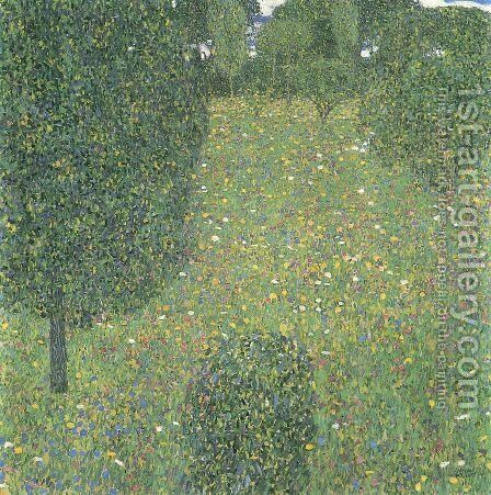 Landscape Garden (Meadow in Flower) by Gustav Klimt - Reproduction Oil Painting