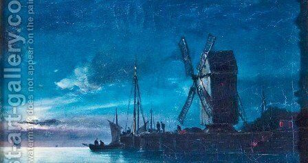 Night View by Ioannis (Jean H.) Altamura - Reproduction Oil Painting