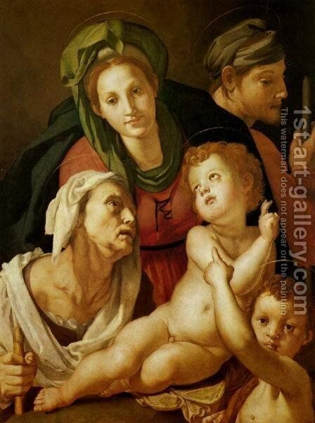The Holy Family by (Jacopo Carucci) Pontormo - Reproduction Oil Painting
