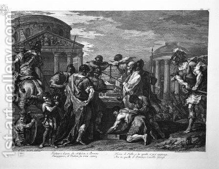 Brennus and Camillus by Giovanni Battista Piranesi - Reproduction Oil Painting
