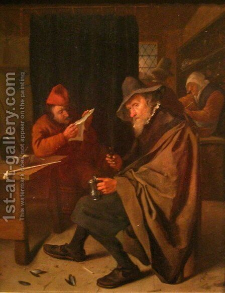 Drinker by Jan Steen - Reproduction Oil Painting