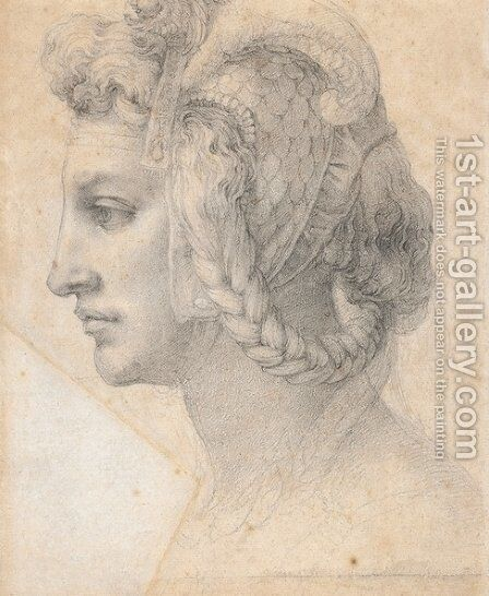 Ideal head of a woman by Michelangelo - Reproduction Oil Painting