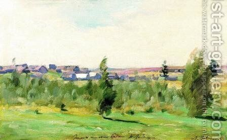 Village by Isaak Ilyich Levitan - Reproduction Oil Painting