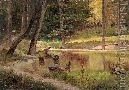 Pond by Ivan Shishkin - Reproduction Oil Painting