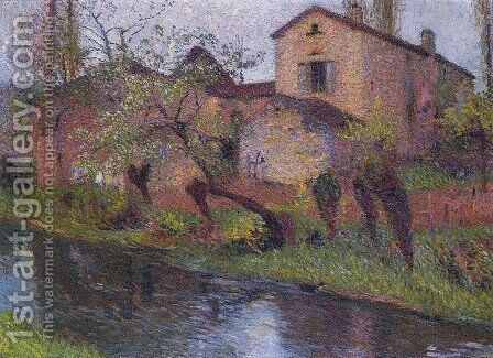 Marie Louise House by Henri Martin - Reproduction Oil Painting