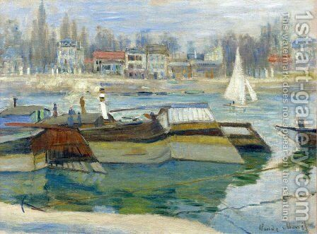 The Seine at Asnieres 2 by Claude Oscar Monet - Reproduction Oil Painting