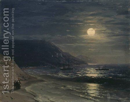 Yalta. The mountains at night by Ivan Konstantinovich Aivazovsky - Reproduction Oil Painting
