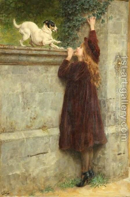 Play Fellows by Briton Rivière - Reproduction Oil Painting