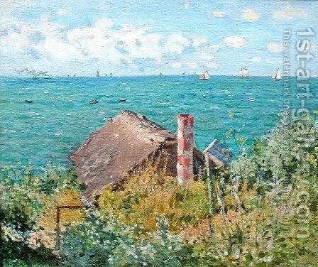 The Cabin at Saint-Adresse by Claude Oscar Monet - Reproduction Oil Painting