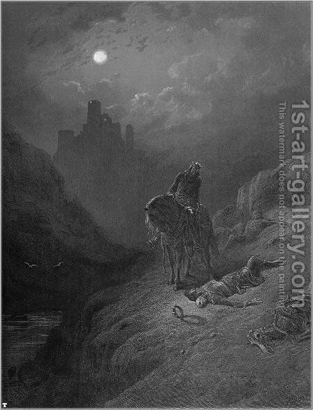 Idylls of the King 6 by Gustave Dore - Reproduction Oil Painting