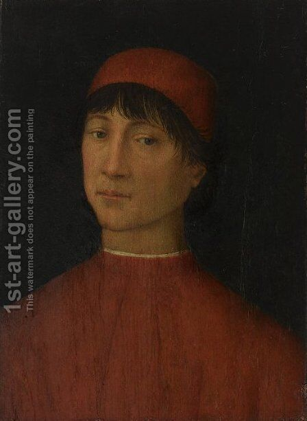 Portrait of a young Man by Bernardino di Betto (Pinturicchio) - Reproduction Oil Painting